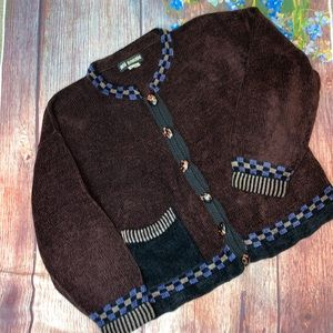 Vintage Ani Barrie Small Preppy Sweater Vest Black Red Hearts Wool Nerd Geek 80s USA